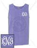 VIOLET INTERTWINED EMB LC MONOGRAM TANK