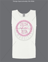 WHITE DELTA ZETA DOT DESIGN TANK