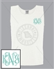 WHITE INTERTWINED EMB LC MONOGRAM TANK