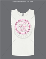 WHITE SIGMA KAPPA DOT DESIGN TANK