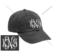 CHARCOAL INTERTWINED MONOGRAM HAT