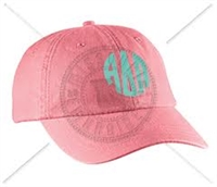 CORAL ADP CIRCLE MONOGRAM HAT