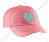CORAL AXO CIRCLE MONOGRAM HAT