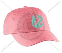 CORAL DZ CIRCLE MONOGRAM HAT