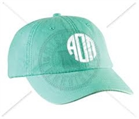 SEAFOAM AOP CIRCLE MONOGRAM HAT