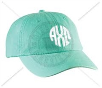 SEAFOAM AXO CIRCLE MONOGRAM HAT