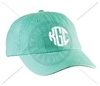 SEAFOAM CIRCLE MONOGRAM HAT