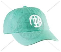 SEAFOAM GPHI CIRCLE MONOGRAM HAT