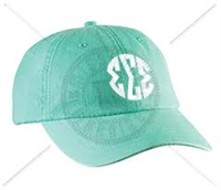 SEAFOAM SSS CIRCLE MONOGRAM HAT