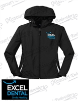 EXCEL LADIES COLORBLOCK HOODED RAGLAN JACKET