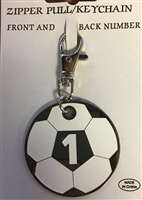 SOCCER NUMBER KEY CHAIN / BAG TAG