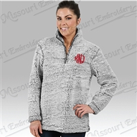 GREY SHERPA 1/4 ZIP - MONOGRAMMED LEFT CHEST