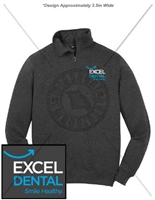 EXCEL DENTAL 1/4 ZIP SWEATSHIRT- UNISEX CUT