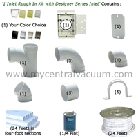 1 Inlet Rough In Kit with Designer Series Inlet - 8 Finish Choices