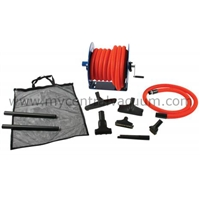 Elite Garage Kit - Garage Tool Set for Central Vacuums - Featuring 50 Foot Hose and Reel