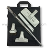 Elite Series Central Vacuum Cleaning Tool Set with Combination Rug/Floor Tool, Telescoping Wand and Canvas Tool Caddy.