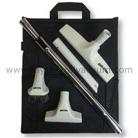 Elite Series Cleaning Tool Set with Elite Hard Floor Tool, Telescoping Wand and Canvas Tool Caddy.
