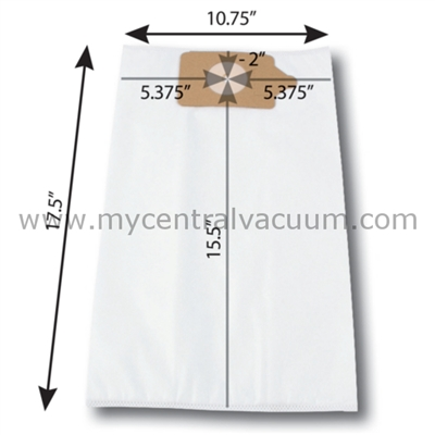 Bags for Numatic Central Vacuums. Paper. 3-Pack.