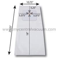 Bags for Large Cyclovac Central Vacuums. 3-Layer HEPA 11. 2-Pack.