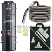 Three Inlet Kit - Central Vacuum Installation Kit - Featuring the Galaxie GA-80 Power Unit