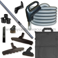 Central Vacuum Basic Floor Care Tool Package with Premium System On-Off Switch Hose.