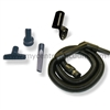 Compact Garage Cleaning Tool Package with Stretch Hose for Central Vacuum Systems