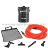 Our Economy Garage Vacuum Package. Central Vacuum System Power for Your Garage or Workshop. Featuring Our Galaxie GA-20 Power Unit with Hose and Tools.