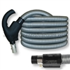 Comfort Grip Type Handle Central Vacuum Hose with System On/Off and Power Brush On/Off Switching