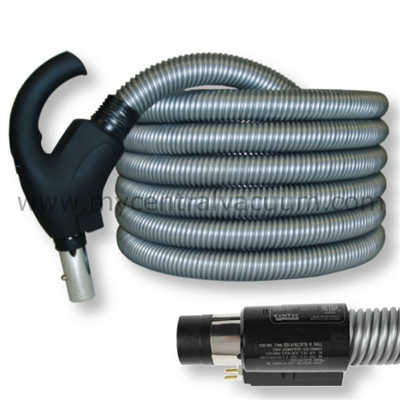 Comfort Grip Handle Electrified Hose with System On-Off AND Electric Brush On-Off Switch. Direct Connect Wall Connection. 30 and 35 Foot.
