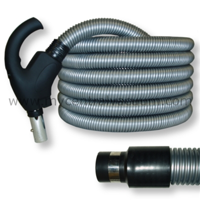 Comfort Grip Type Handle Central Vacuum System Hose with System On/Off Switch