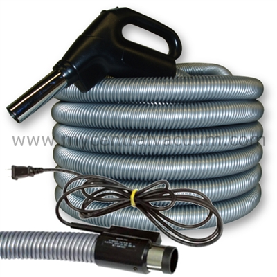 Gas Pump Handle Central Vacuum Hoses with Pigtail Power Cord and Two-Way Switch