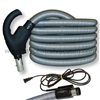 Comfort Grip Central Vacuum System Hose with Power Cord and Two-Way Switch