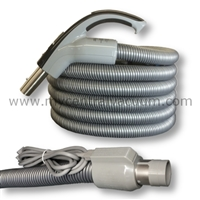 Elite Series Comfort Grip Handle Central Vacuum System Hose with Pigtail Power Cord
