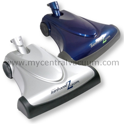 TurboCat Zoom Air-Driven Power Brush in Platinum or Sapphire. By Vacuflo.