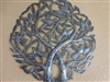 Double Tree of Life, Recycled Oil Drum Wall Art 24 inches - Haiti