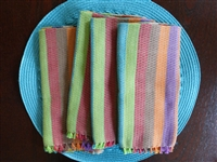 Holi Hand Woven Striped Napkins - 4 per set