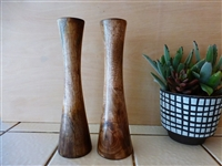"Mango Wood Candle Holder - 10"" (single)"