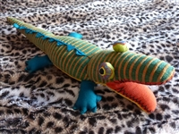 Multi-colored Stuffed Crocodile