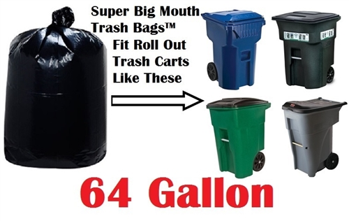 64 Gallon Garbage Bags Trash Bag Can Liners