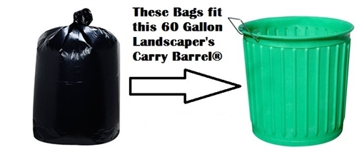 60 Gallon Carry Barrel Garbage Bags