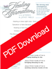 Healing Affirmations - Joshua & Janet Mills (Digital PDF Download)