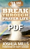 31 Days To A Breakthrough Prayer Life - Joshua Mills (Digital PDF Book)