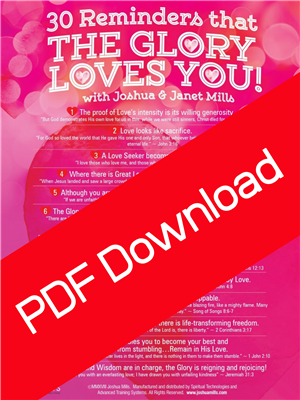 30 Reminders That The Glory Loves You - Joshua & Janet Mills (Digital PDF Download)