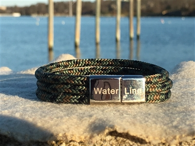 The Camo Verde is a durable and rugged bracelet handcrafted for adventures both on land and at sea.