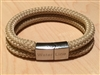 The Vintage Teak is handcrafted with a woody tan, double braided high performance line often used for spinnaker sheets.