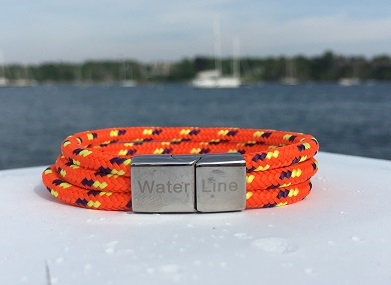 The Sicilian Orange Bracelet is an essential accessory for casual days at the shoreline or evenings strolling the Piazza. With its stainless steel magnetic clasp and triple line design, it is both comfortable and secure.