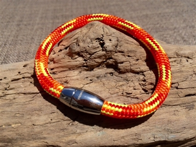 Windswept Orange Nautical Bracelet