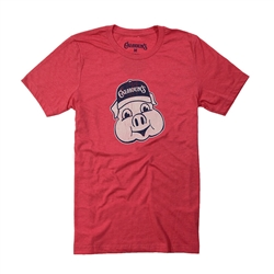 Calhoun's Pig Tee - Heathered Red