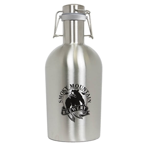 SMB 64 oz Stainless Steel Growler - Silver