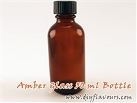 50 ml amber glass bottle
